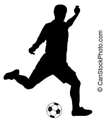 FootballSoccer - Abstract vector illustration of footbal...