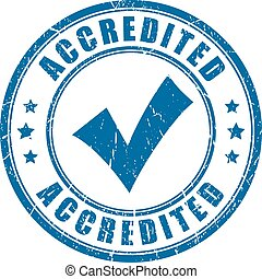 Accredited rubber stamp