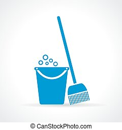 Mopping icon - Mopping vector icon