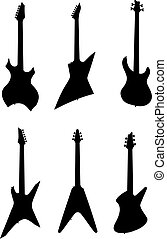 Guitars - Vector illustration of electric guitars