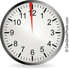 Clock with red 1 minute deadline - Clock with red 1 minute...