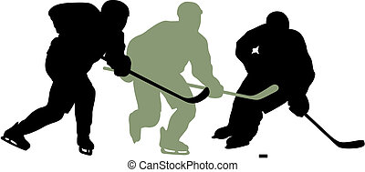 Hockey player - Abstract vector illustration of hockey...