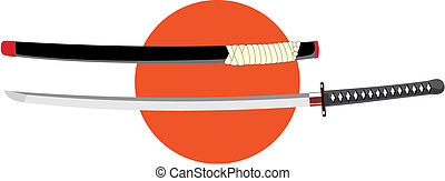 Katana - Vector illustration of japanese sword