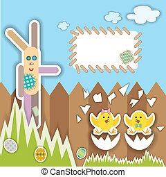 Easter scrapbook elements. Vector illustration. - Easter...