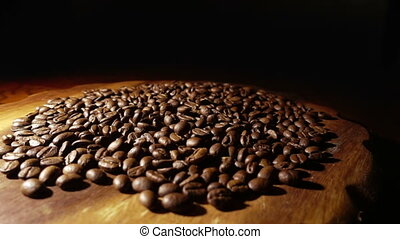 Pouring Coffee Beans slow Motion - Pouring coffee beans slow...