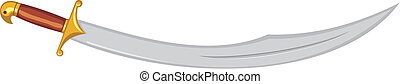 Arabic sabre - Vector illustration of arabic sabre