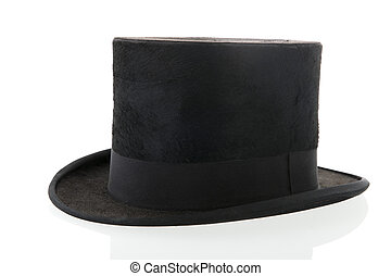 Black top hat - black top hat isolated over white background