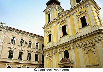 The Serbian Catholic church from Timisoara, Romania