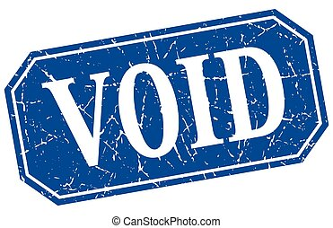 void blue square vintage grunge isolated sign