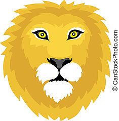 Lion - Abstract vector illustration of lion head
