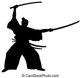 Samurai - Abstract vector illustration of samurai