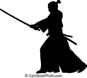 Samurai - Abstract vector illustration of samurai