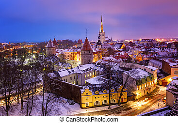 View of an old city in Tallinn Estonia