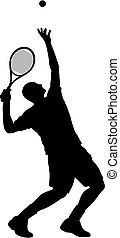 Tennis - Abstract vector illustration of tenis-player