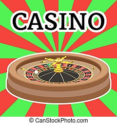 Casino roulette wheel Vector illustration Clip art