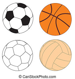 Balls - Vector illustration of various sports balls