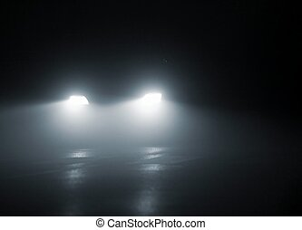 Headlights - headlights of a car approaching in the dark