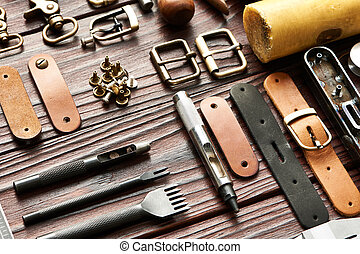 Leather crafting tools - Leather crafting DIY tools still...