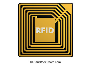 RFID tag isolated on white background