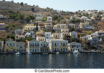 the island of simi in greece - the beautiful island of simi...