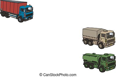 Truck with a container