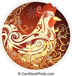 Chinese New Year 2017 Rooster horoscope symbol - Rooster as...