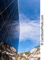Deep Sky Reflection Cannon - Large Blue Glass windows...