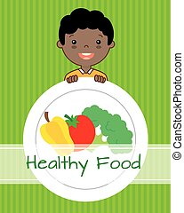 healthy food boy with vegetables