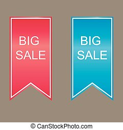 Big sale sign icon.