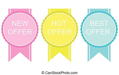 New hot offer stickers