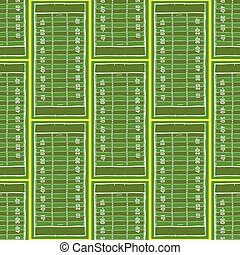 Sketch football field pattern in vintage style, vector