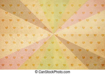 Heart shape pattern on vintage paper - heart shape pattern...