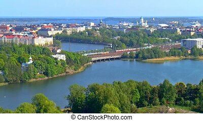 Aerial view of Helsinki, Finland - Scenic summer aerial...