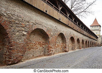 Medieval stronghold - Medieval wall of an ancient...