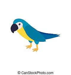 Blye brazil parrot icon, isometric 3d style - Blye brazil...