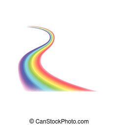 Rainbow curved line icon,realistic style - Rainbow curved...