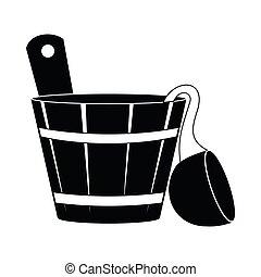 Russian bath tub icon, simple style - Russian bath tub icon...