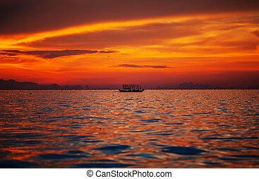 bote, em, cambodia,