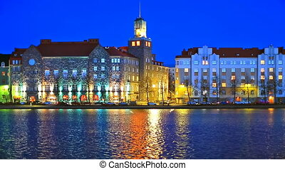 Night scenery of Helsinki, Finland