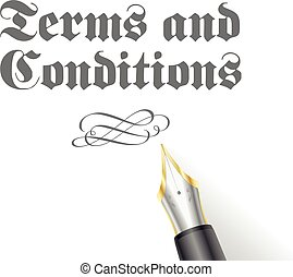 Terms and Conditions - illustration of an Terms and...