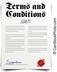 Terms and Conditions - detailed illustration of a Terms and...