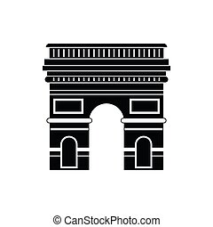 Triumphal arch icon, simple style - Triumphal arch, Paris...