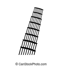 Pisa Tower icon, simple style - Pisa Tower icon in simple...