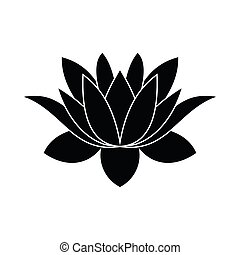 lotus flower icon, simple style - lotus flower icon in...