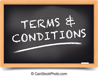 Blackboard Terms and Conditions - detailed illustration of a...