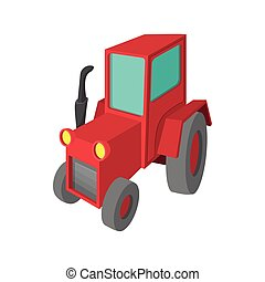 Tractor cartoon icon