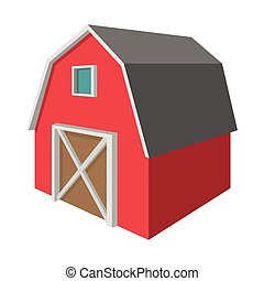 Shed cartoon icon isolated on a white background