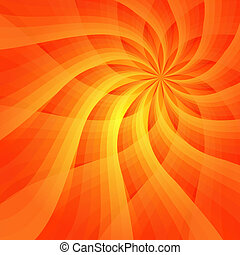 Abstract vivid orange background with sun-flower (vector EPS...
