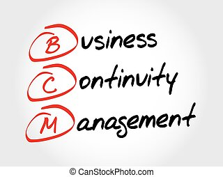BCM - Business Continuity Management