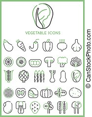Vegetable Icons set